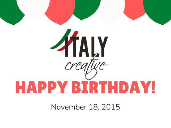 Italy Creative | Happy birthday 2015