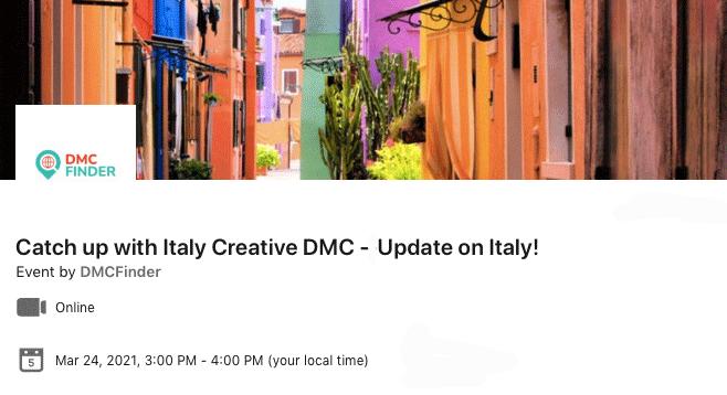Italy Creative webinar 24-03-2021 & DMC Finder