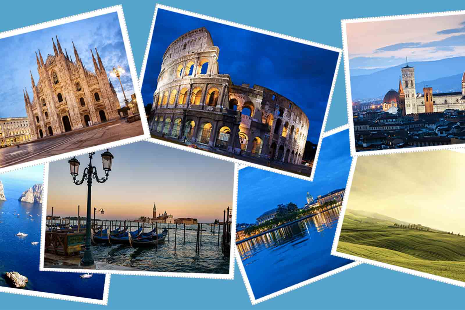 Across Italy you can nott miss 20-day
